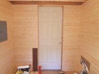 Pocket door installed