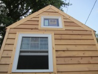 Siding and windows in