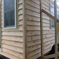 Installing cedar siding