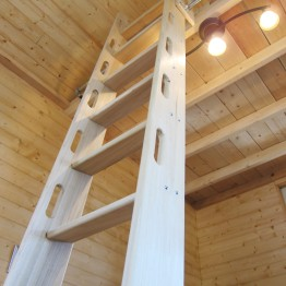 Ladder with routed hand holes