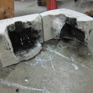 Two part plaster mold