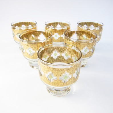 Gold printed Culver glasses