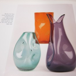 Blenko dented vases