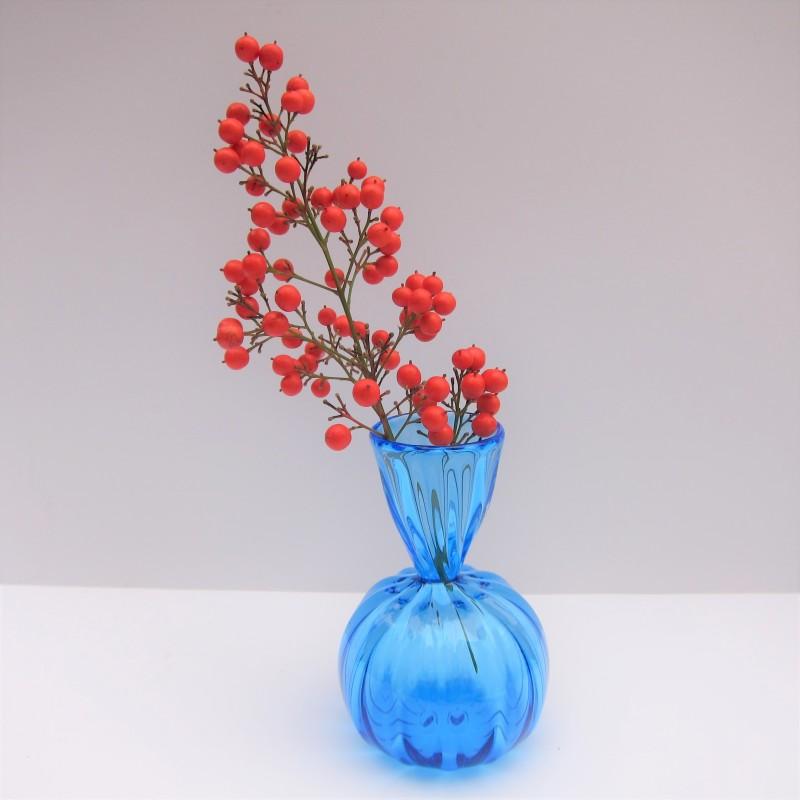 blown glass bud vase